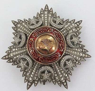 .RARE 1800s / EARLY 1900s TURKISH ORDER OF MEDJIDIE BREAST STAR. 3RD 4TH CLASS?