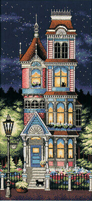 """Victorian Charm Counted Cross Stitch Kit-12""""X21"""" 18 Count"""