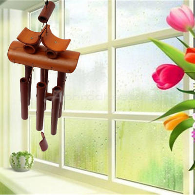 Bamboo Wind Chime Windchime Garden Yard Ornament Decoration Home Decor Lucky NEW
