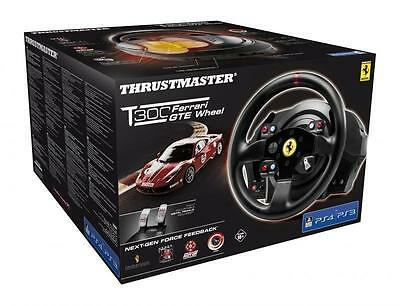 New Thrustmaster 4168050 T300 Ferrari Gte Racing Wheel & Pedals For Ps3 Ps4 & Pc