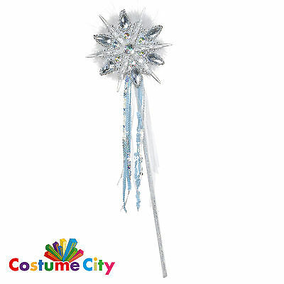 Ice Princess Snowflake Fairy Wand Snow Queen Fancy Dress Christmas Accessory