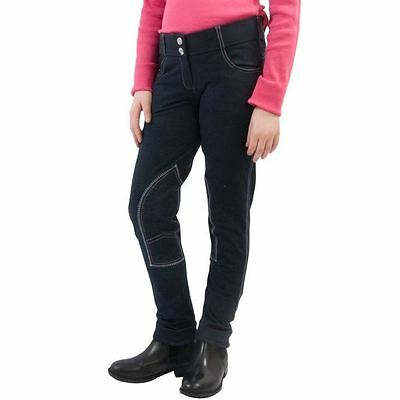 Requisite Kids Crest Embroidery Jegging Breeches Equestrian Pants Riding Bottoms