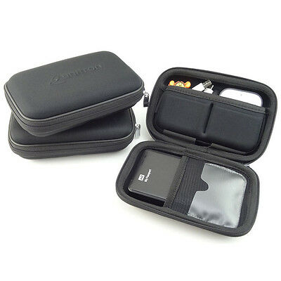 """Anti Shock EVA 2.5"""" Hard Disk Drive Case Shockproof Zipped Cover With 3 Pockets"""