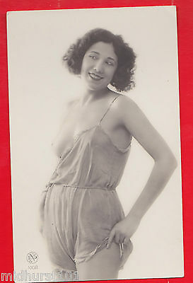 Glamour, Risqué nudes, Erotic French card.  1920's.Q