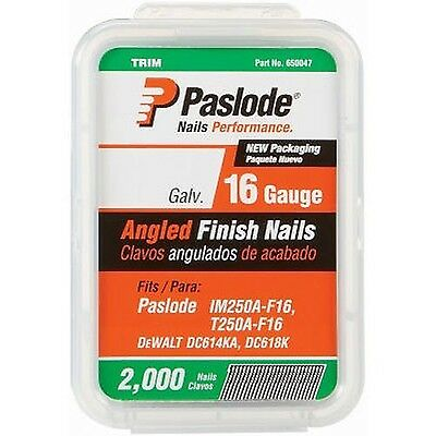 Paslode 650231 1-1/2-Inch by 16 Gauge 20 Degree Angled Galvanized Finish Nail...