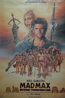 """Mad Max Beyond The Thunderdome US Single Sheet promo poster 27"""" x 40"""""""