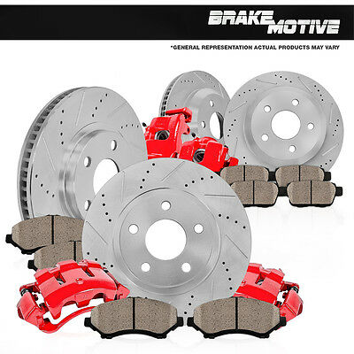Front and Rear Brake Calipers & Rotors & Pads 1999 2000 2001 - 2004 F150 4X4 4WD