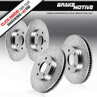 FRONT & REAR DRILLED AND SLOTTED BRAKE ROTORS AWD Audi A4 QUATTRO B5 VW Passat