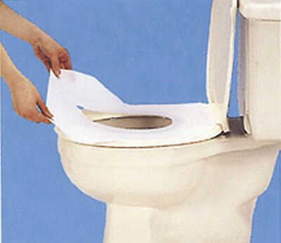 Coghlans Toilet Seat Covers White 10 Pack Disposable Hygenic WC Loo Paper Cover