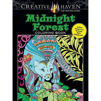 Dover Publications-Creative Haven Midnight Forest