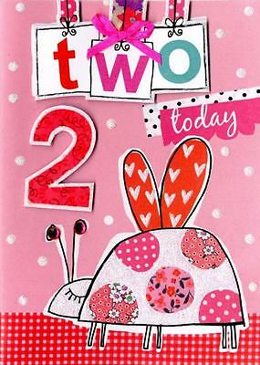 Girls 2nd Birthday Card Two Today Second Nature Childrens Hide & Seek Cards