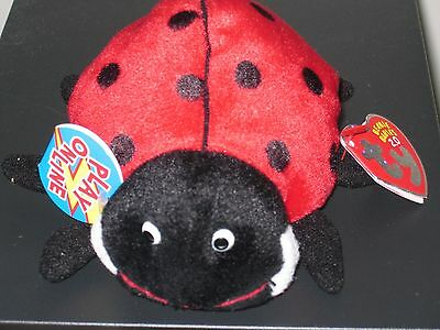 Ty Beanie Baby BB 2.0 ~ MAIDEN the Ladybug ~ MINT with MINT TAGS ~Stuffed Animal