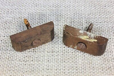 "2 wood cabinet turn button latches 1 5/8"" Jelly cupboard old vintage 1800's"