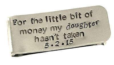 Father of the Bride Gift - Personalized Money Clip - Aluminum Money Clip  Father