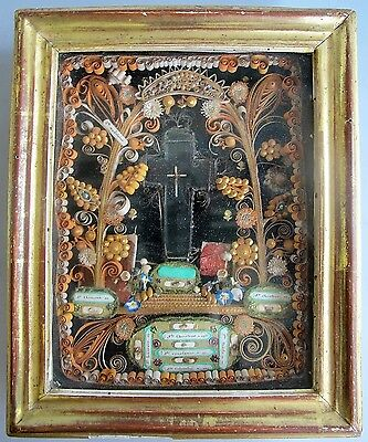Ornate Antique Victorian 19th C. CHRISTIAN RELIQUARY w/ 8 Relics  c. 1880