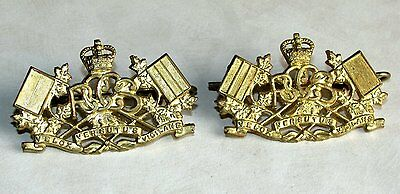Canada The Royal Canadian Corps of Signals Collars Dogs  Badge Queen's Crown