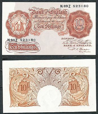 Great Britain - ND 1949-55 10 Shilling. P.368b. P.S. Beale. UNC.