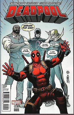 Deadpool No.13 2016 Heroes for Hire Variant Cover