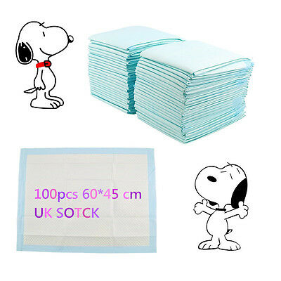 100 EXTRA LARGE PUPPY PET TRAINER TRAINING PAD TOILET PEE WEE MATS DOG CAT 60x45