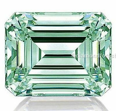 fancy green 2.00 ct loose moissanite genuine emerald brilliant cut 8.00 mm