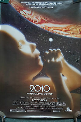 2010: The Year We Make Contact (1984) US One Sheet Movie Poster 24 X 41 inches