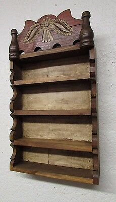 Rustic Wooden Shelf #1-Mexican-14x24x5-Rustic-Primitive-Wall-Kitchen-Re-Purposed