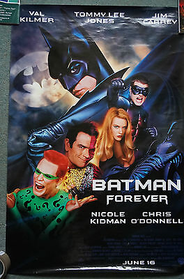 Batman Forever (1995) US dble Sheet Movie Poster 24 X 41 inches Edge wear+dimple