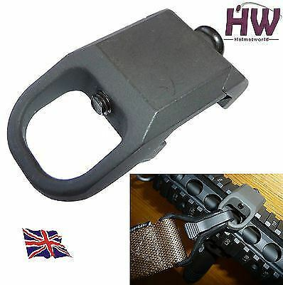 AIRSOFT RSA STYLE RAIL SLING ATTACHMENT POINT MOUNT STEEL METAL  20mm UK