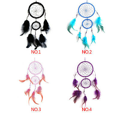 Circle Dream Catcher Feathers Wall Hanging Decoration Car Ornament