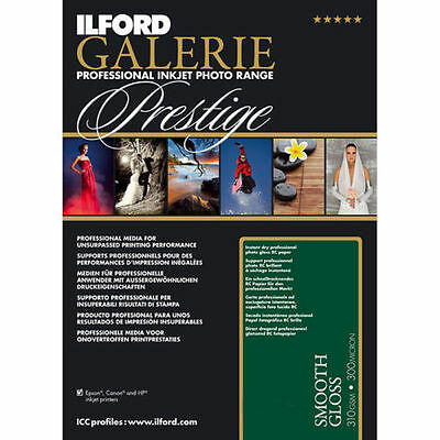 Ilford Galerie Prestige Smooth Gloss A3+, A3, A4, 6x4 Inkjet Photo Paper 310gsm