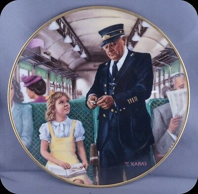 Ted Xaras The Conductor Collector Plate Men of the Rails