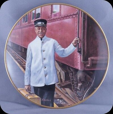 Ted Xaras The Pullman Porter Welcome Aboard Collector Plate Men of the Rails