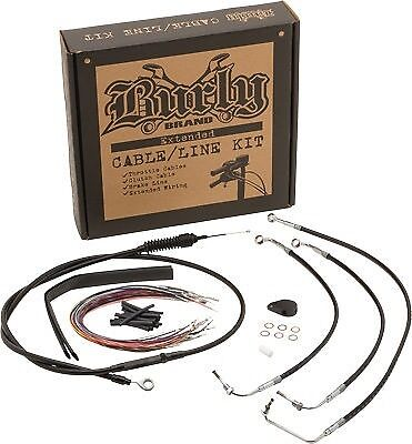 Extended Cable/Brake Line Kit for 12in. Ape Handlebars Burly Brand B30-1067