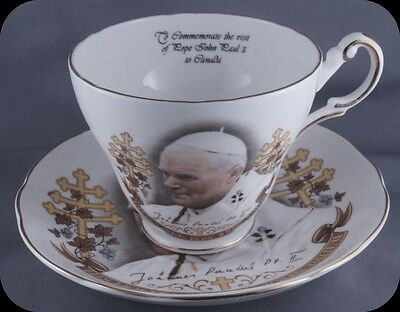 Heritage Regency Pope Paul II  Cup and Saucer