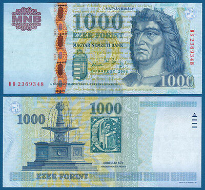 UNGARN / HUNGARY 1000 Forint 2005 UNC  P.195 a