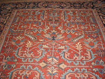 Antique Heriz Carpet Norhwest Persia Rug B-6968