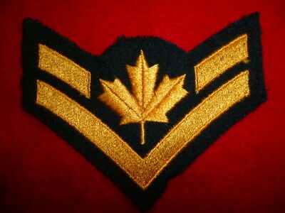 Canadian Army Corporal Rank Patch, Black - Canada - Old Type