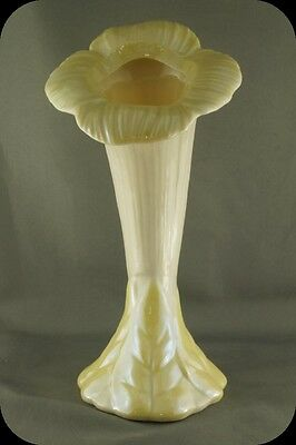 Belleek Trumpet Flower Vase Green Mark Ireland