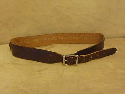 VIntage leather Redhead Brand .22 ammo belt marked 96C I Holds 36 rds Size Small