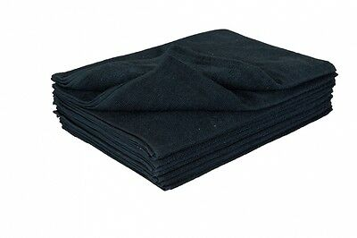 INMOOD Thick BLACK Hand Towels 100% Cotton Hair/Barber/Beauty/Gym/Salon 38x79cm
