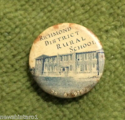 #d244.  1928. Richmond  District  Rural School  Tin  Badge