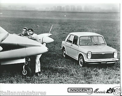 Innocenti Austin Morris JM3S With Aircraft original 1968 Photograph