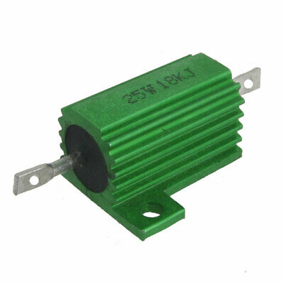 Chassis Mounted 25W 27 Ohm 5/% Aluminum Case Wirewound Resistor