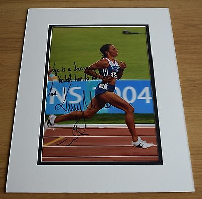 Kelly Holmes SIGNED autograph 16x12 LARGE photo display Olympics Inscription COA