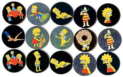 POGS - H-SIMPSONS 15 012 Lot de 15 Pogs SIMPSONS