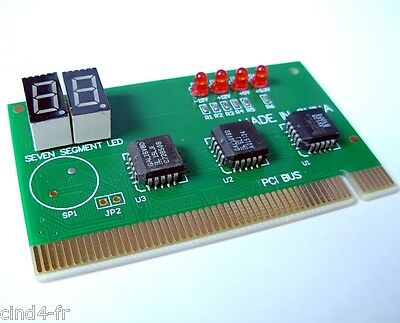 Carte PCI Testeur analyseur diagnostic PC - Analyzer tester checker PCI card