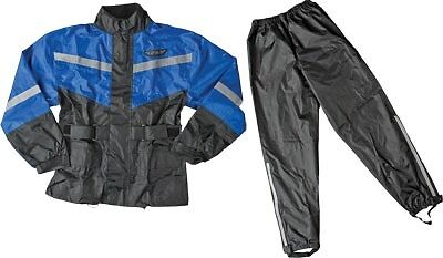 Fly Racing 2 Piece with Rainsuit Relective Accents Blue/Black