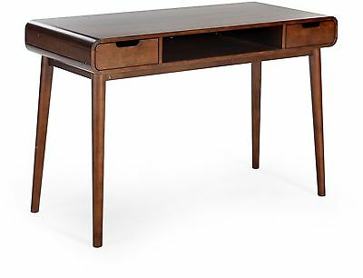 Mid Century Modern Writing Desk Walnut Finish School Office Home FREE SHIPPING