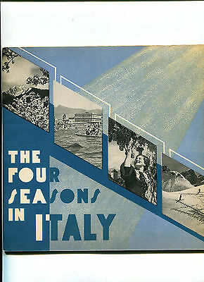 Vintage Travel Book pre-WW2 FOUR SEASONS IN ITALY ENIT 1937  English