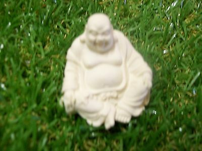 Buddha, laughing, 30mm Ivory colored 004